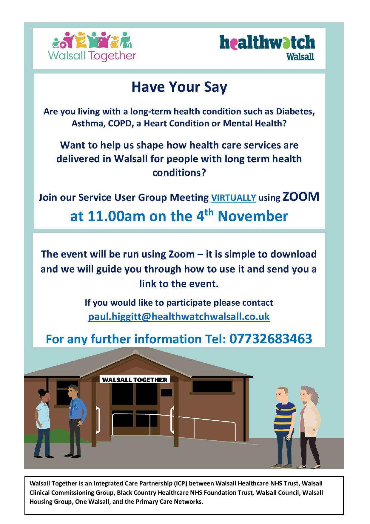 Walsall Together User Group Meetings